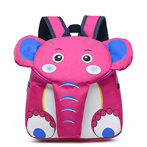 Ogquaton Mochila Escolar de Elefante de Dibujos Animados para niños, Mochila para Mochila de jardín de Infantes para niños pequeños, niños, durables y útiles