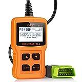 INTEY OBD2 Lecteur de Code, Effacer le Code de Défaut du Véhicule Diesel, Batterie Diagnostique Outil,...