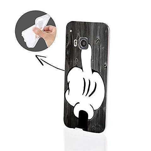FINOO   HTC One M9 Weiche flexible Silikon-Handy-Hülle   Transparente TPU Cover Schale mit Motiv Muster   Tasche Case mit Ultra Slim Rundum-schutz   stoßfestes dünnes Bumper Etui  