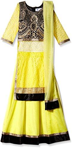 Atayant Girl Lehenga Choli (ATAYK_034_5:6YR_Black:Yellow_XL)