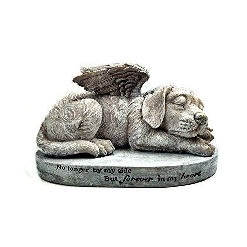 Hund Gedenkstein, Engel Pet Statue, schlafender Engel Hund mit Flügeln Garten Statue