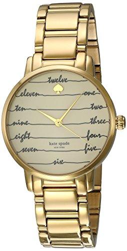 Kate Spade New York Orologio da Chalkboard Goldtone Gramercy donna Bianco