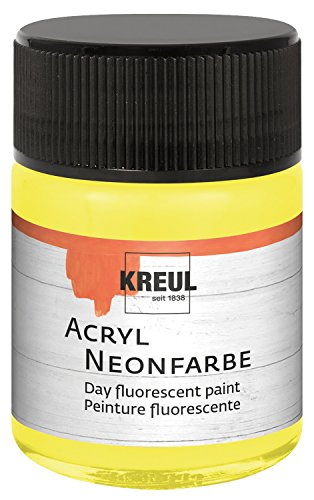 KREUL 77561 Acrylique Couleur Fluo, Verre de 50 ML, Jaune Fluo