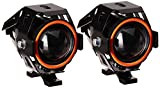 #7: Leebo U5 LED Super Power Spot Beam Light Fog Lamp for Royal Enfield 500 Twinspark (Black, Set of 2)
