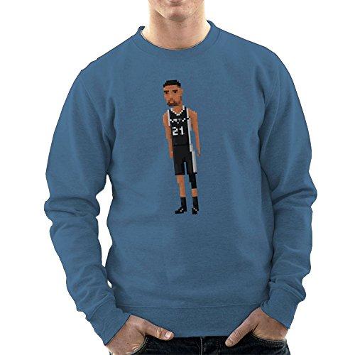 Tim Duncan Basketball-spur (Tim Duncan San Antonio Spurs NBA Pixel Men's Sweatshirt)