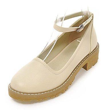 LYNXL delle donne scarpe tacchi Primavera Estate Autunno Comfort in  similpelle ufficio carriera Party Sera casuale fibbia tacco grosso Nero Blu  Rosa Beige ...