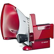 Bosch MAS6151R rebanadora - Cortafiambres (De plástico, 220 - 240 V, 50/60 Hz, Metálico, Rojo)