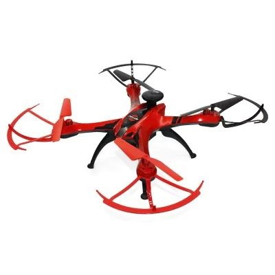 RC Drone Quadcopter RTF FX176C2 GPS Brushed with 2MP CAMERA RED WiFi FPV Waypoints Follow Me