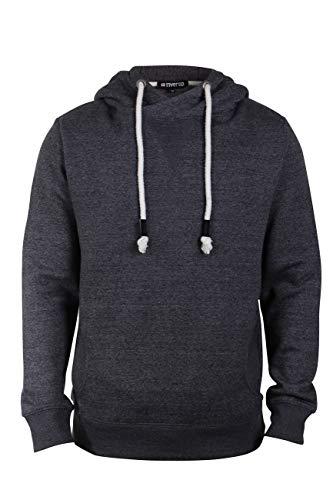 Passform-fleece Gefüttert-jeans (riverso Herren Kapuzenpullover Hoodie Pullover mit Kapuze 'Karl' Uni, Größe:XL, Farbe:Anthracite Grey Melange)