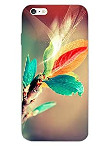JUSTGIRLYTHINGS Leaf Colorful Abstract Designer Printed Hard Back Shell Case for Apple iPhone 6 / Apple iPhone 6S