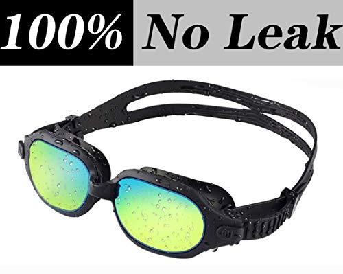 WYJW Schwimmbrille, stromlinienförmiger Designglas-Anti-Fog-UV-Schutz mit weicher Silikon-Nasenbraut, Schwimmbrille für Erwachsene, Jugendliche, Männer, Frauen