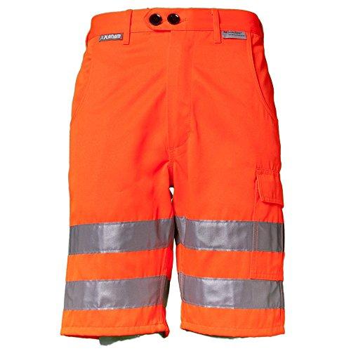 Planam - Pantaloncino Alta Visibilita, Colore Arancione, Taglia XXL