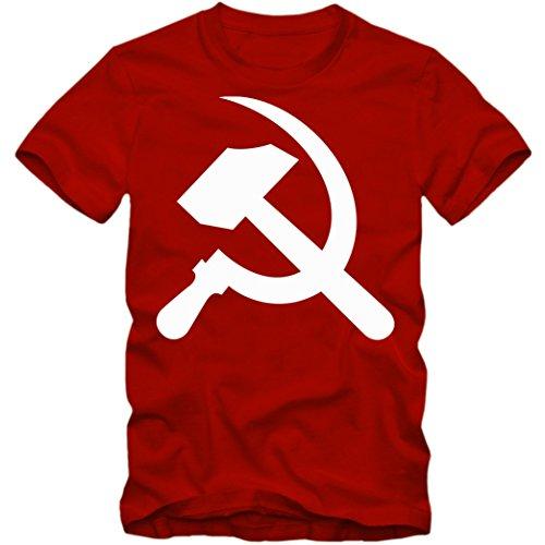 Hammer & Sichel T-Shirt | Kommunismus Shirt |Russland |Lenin | Bolschewiki | Tee © Shirt Happenz rot (red) 01