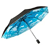 Paraguas Plegable Automático Compacto y Ligero GOLDEN LEMUR. Paraguas Resistente Antiviento. Doble Capa .Tecnología T210 y Teflon Dupont. Paraguas Mujer y Hombre.Varillas de Carbono.Garantía Calidad