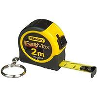 Stanley FatMax Bandmass Powerlock (2 m mit Schlüsselring, automatischer Bandrücklauf, Fetsstellmechanismus) FMHT0-33856