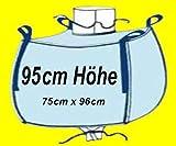 4 Stück gebr. Big Bag ca. 95 x 75 x 96 cm (HxBxT) - 1000 kg Traglast - Bags, BIGBAG, Fibc, FIBCS, Bigbags, SF 5:1