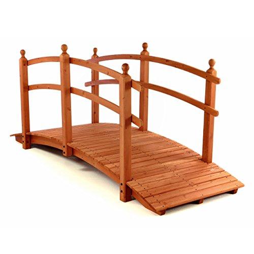 Gartenbrücke aus Holz mit Geländer