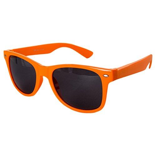 Ciffre EL-Sunprotect® Nerdbrille Brille Nerd Sonnenbrille Hornbrille Streber Orange
