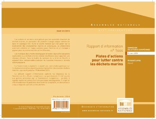 Couverture du livre Rapport d'information de la commission des affaires européennes sur la consultation de la Commission européenne relative aux déchets marins