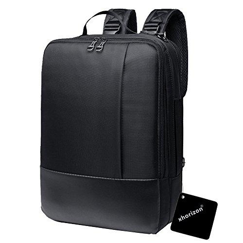 xhorizon Multifunción convertible impermeable ordenador portátil mensajero bolsa de ordenador Bolsa de negocios solo hombro mochila maletín para iPad Pro, Tablet Laptop, Notebook