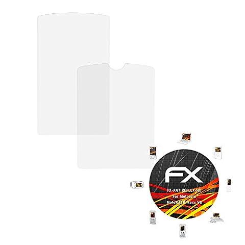 Motorola MotoRAZR Maxx V6 Displayschutzfolie - 3er Set atFoliX FX-Antireflex-HD hochauflösende entspiegelnde Schutzfolie