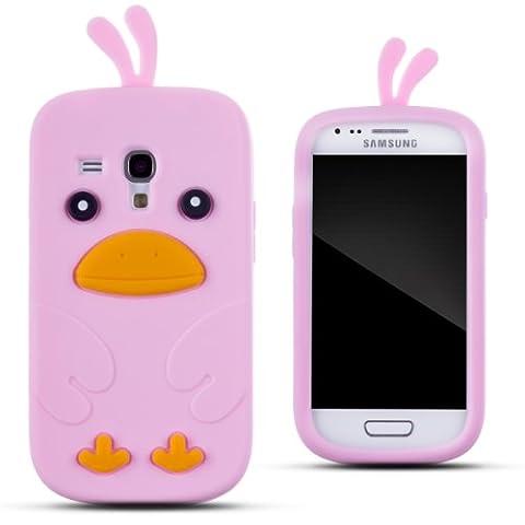 Zooky® ag350Schutzhülle aus Silikon für Samsung Galaxy S III mini pink Motiv Huhn
