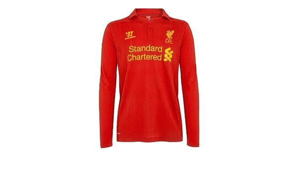 Geschenk f/ür Fu/ßballfans Liverpool FC Offizielles Merchandise Kinder Langarmshirt mit Raglan/ärmeln /& Vereinswappen