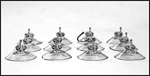 CAMAYER 12x Haken mit Saugnapf extra stark PVC weich MADE IN GERMANY (40 mm) Dekohaken für Fenster Saugnapf Wandhaken Set Handtuch Haken für Küche & Badezimmer, aus Kunststoff für Glas Metall Fliesen (Saugnapf-haken)