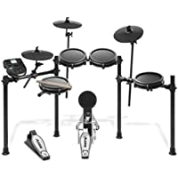 Alesis Schlagzeug Nitro Mesh Kit - Achtteiliges Mesh E-Drum Set mit Superstabilem Aluminium Rack, 385 Sounds, 60 Play-Along Tracks, Anschlusskabeln, Drum Sticks und Drum Key inklusive