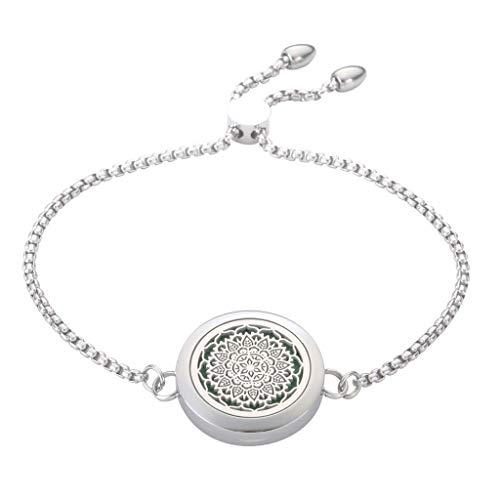 JAOYU Aromatherapie-Armband für Damen, ätherisches Öl, Diffusor, Schmuck für Kinder, Edelstahl, Medaillon-Armreif - perfektes Geschenk für Mutter und Mädchen
