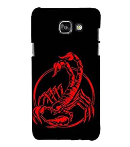 Scorpion 3D Hard Polycarbonate Designer Back Case Cover for Samsung Galaxy A3 (2016) :: Samsung Galaxy A3 2016 Duos :: Samsung Galaxy A3 2016 A310F A310M A310Y :: Samsung Galaxy A3 A310 2016 Edition