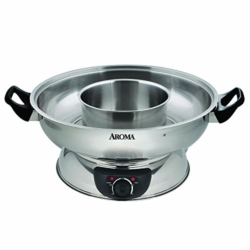Aroma Housewares ASP-600 Stainless Steel Hot Pot, Silver by Aroma Housewares