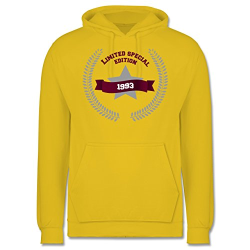 Geburtstag - 1993 Limited Special Edition - Männer Premium Kapuzenpullover / Hoodie Gelb