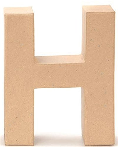 Papp-Buchstabe H 17,5x5,5cm