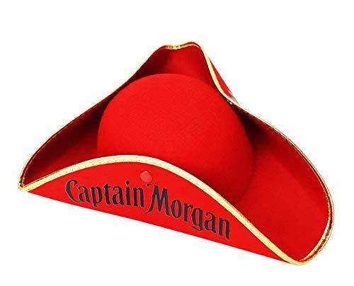 Captain Morgan Rum Piratenhut Hut Hüte Mütze Fasching (Captain's Hut)
