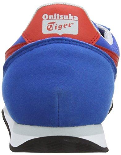 Asics Sakurada, Chaussures de trail mixte adulte Bleu (4223-Mid Blue/Fiery Red)