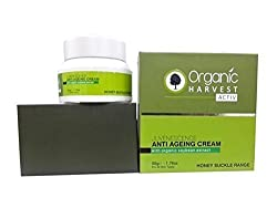 Organic Harvest Activ Anti Ageing Cream-Honey Suckle Range,50gm With Ayur Combo