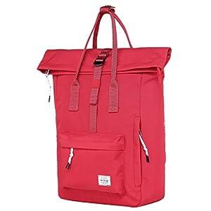 41GsR v2aCL. SS300  - KAZIM Bolsa Mochila de Viaje pequeña de Moda   Cabe un portátil de 13 Pulgadas   Rojo