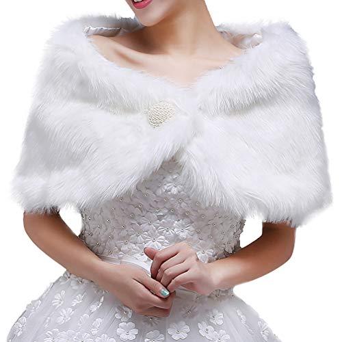 Amosfun Chal lana nupcial accesorios vestido