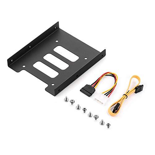"""Salcar Einbaurahmen für 2, 5\"""" HDD/SSD, 2, 5\"""" auf 3, 5\"""" Interner Dual Festplattenrahmen inkl. Schrauben SATA Kabel und Stromadapter"""