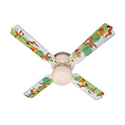 Ceiling Fan Designers Ceiling Fan, Curious George Monkey, 42