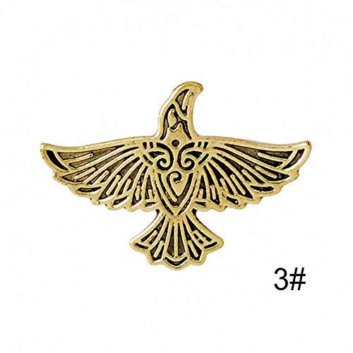 DaQao Brosche Flying Raven Pin Silber Bronze Crow Brosche Für Männer Vinatge Animal Pins Button Abzeichen Kragen Pins 15€ für Sie, wenn Sie sich in der App anmelden.