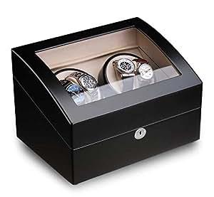 ferocase uhrenbeweger fc2308bk f r 4 4 uhren schwarz uhren. Black Bedroom Furniture Sets. Home Design Ideas