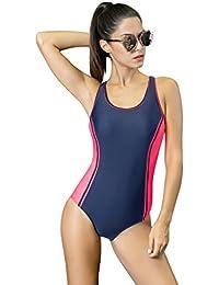 338cb056f7bf Honofash Damen Badeanzug Bademode Strandmode Bikini Einteiler Push up  figurschmeichelnd Gepolstert Ohne Bügel