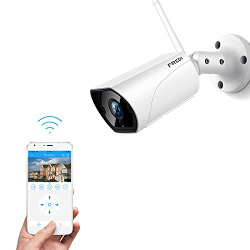 Fredi hd 1080p videocamere di sorveglianza wifi esterno con rilevamento del movimento, ip66 telecamera ip camera wireless, ip cam senza fili con 15m visione notturna,vista a distanza via smart phone /tablet /pc windows