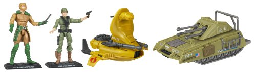 G.I. Joe 25th Anniversary Action Figure Vehicle Wave 1: Armadillo Tank vs Serpentor Air Chariot