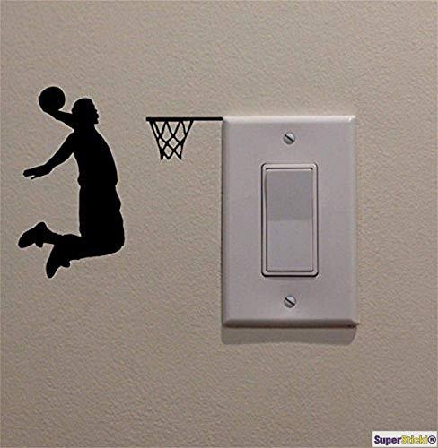 oo Steckdose Lichtschalter Basketball Deko Hobby Dekoration Home Basteln aus Hochleistungsfolie Aufkleber Autoaufkleber Tuningaufkleber Hochleistungsfolie für alle g ()