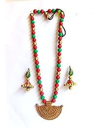 Brass & Terracotta Jewellery Set