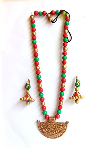 Brass & Terracotta Jewellery Set