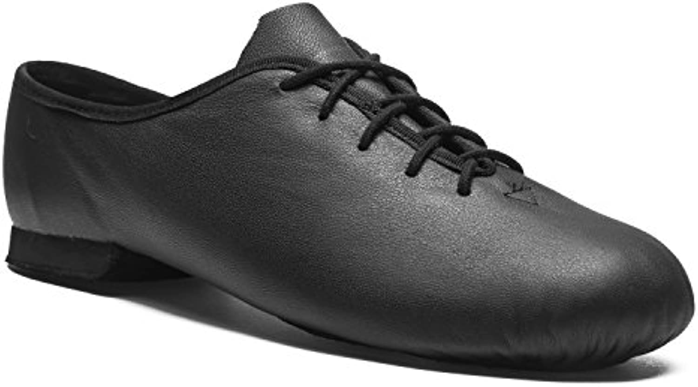 Rumpf Jazzschuhe Basic II 1270 für Gymnastik Jazz Tanz  Leder mit Geteilter Chromledersohle Farbe Schwarz  Größe 31